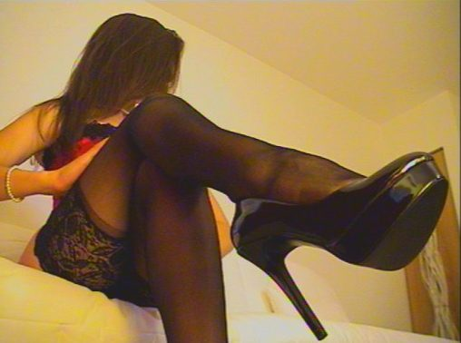 Jerk off to high heels on webcam